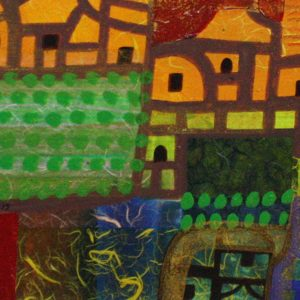 Code: 19142 Title: Green Landscape Size: 12 inches x 48 inches Medium: Mixed Media