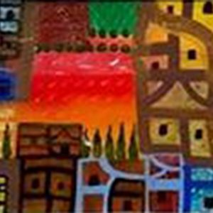 Code: 19143 Title: Farmland Size: 12 inches x 48 inches Medium: Mixed Media