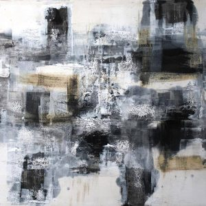 19414 36x48 Black and White Series Oil on Canvas