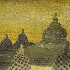 Code: ASN 059 Title: The Main Stupa of Borobudur Size: 12x16in Medium: Acrylic on Canvas