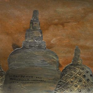 Code: ASN 062 Title: The Main Dome of Borobudur Monument Size: 12x16in Medium: Acrylic on Canvas