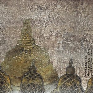 Code: ASN 064 Title: Timeless Shrine of Borobudur Size: 12x16in Medium: Acrylic on Canvas