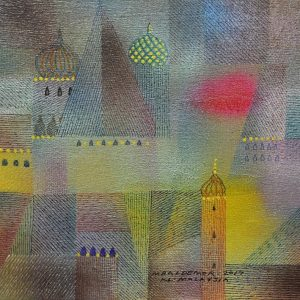 Code: ASN 084 Title: Landmarks Size: 12x16in Medium: Acrylic and Ink on Canvas