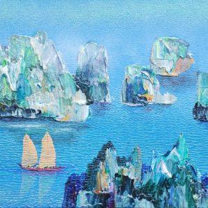 Code: ASN27 Title: Amazing Limestone Island Size: 12x24 Medium:  Year: 2017