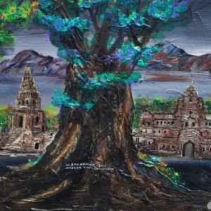Code: ASN33 Title: Great Temple of King Jayawarman VII Size: 18x24 Medium:  Year: 2017