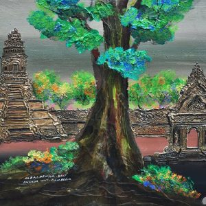 Code: ASN34 Title: The Early Khmer Kings Temple of Angkor Size: 18x24 Medium:  Year: 2017