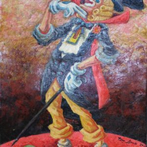 Code: 16560 Title: Clown Series Medium: Oil on Canvas Dimension: 14x11.5 inches