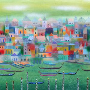 Code: CS 18739 Title: Venice Size: 48 inches x 96 inches Medium: Mixed Media