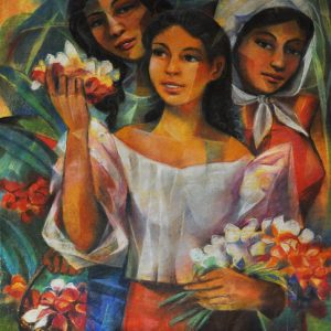 Code: 19658 Title: Tres Marias Size: 25.5x20in Medium: Pastel on Paper
