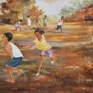 Code:18594 Title:Agawan Base Size: 16in x 30in Medium: Oil on Canvas