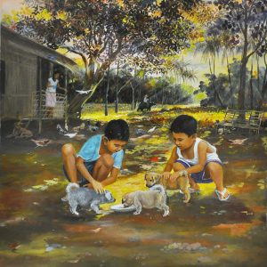 Code: 19976 Title: Responsible Kids Size: 26x22 in Medium: Oil on Canvas