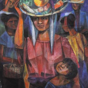 Code: 20052 Title: Vendors Size: 25.5x20in Medium: Pastel on Paper