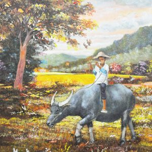 Code: 20056 Title: Himig ng Bukid Size: 24x18in Medium: Oil on Canvas