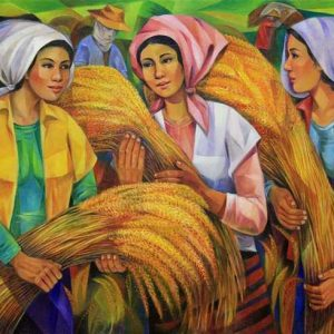 Code: 8887 Title: Precious Harvest Medium: Oil on Canvas Dimension: 30x48 inches