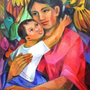 Code: 18846 Title: Mother and Child Medium: Oil on Canvas Dimension: 18x12 inches