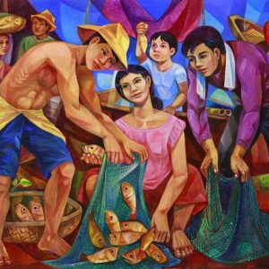 Code: 9761 Title: Biyaya ng Dagat Medium: Oil on Canvas Dimension: 36x48 inches