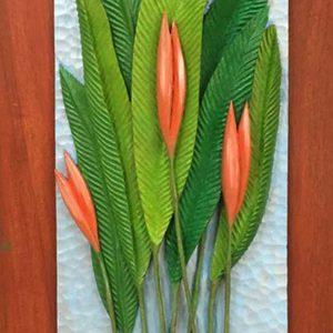 Code: RA 023 Title: Anthurium Medium: Batikuling Wood Dimension: 22in x 9.5in