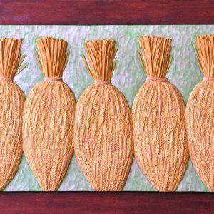 Code:RA 064 Title: Bungkos ng Biyaya Medium: Batikuling Wood Dimension: 17.5in x 48.5in