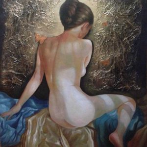 Code: 17287 Title: Nude Size: 55 inches x 45 inches Medium: Oil on Canvas