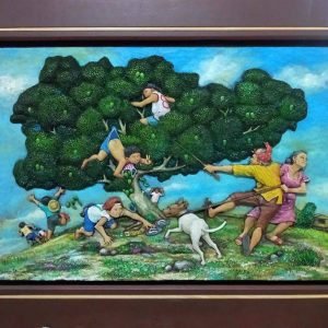 Code: 18877 Title: Huli kayo Balbon Medium: Wood Relief Dimension: