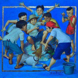 Code: 18880 Title: Gagamba Medium: Oil on Canvas Dimension: 16x14in