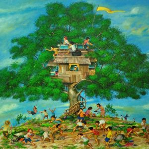 Code: 18887 Title: Treehouse Medium: Oil on Canvas Dimension: 36x48in