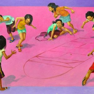Code: 18963 Title: Piko Y Pikon Medium: Oil on Canvas Dimension: 18in x 48in