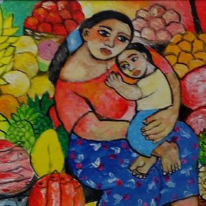 Code: 19026 Title: Mother and Son Size: 12x16 Medium: Oil on Canvas Year: 2017