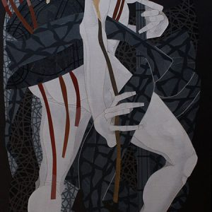 Code: 19251 Title: Kow Tow Player Size: 48 inches x 24 inches Medium: Acrylic on Canvas