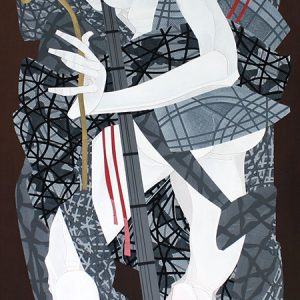 Code: 19252 Title: Kow Tow Player Size: 48 inches x 24 inches Medium: Acrylic on Canvas