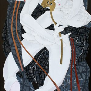Code: 19253 Title: Blessings Flow Size: 48x24in Medium: Acrylic on Canvas