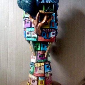 Code: 19279 Title: Catrina Medium: Sculpture Dimension: 22x7x7in