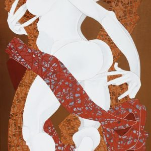 Code: 19335 Title: Woman Size: 48 inches x 24 inches Medium: Acrylic on Canvas