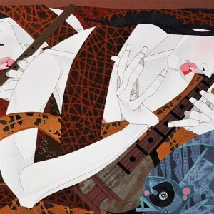 Code: 19566 Title: Music and Praise Size: 18 inches x 30 inches Medium: Acrylic on Canvas