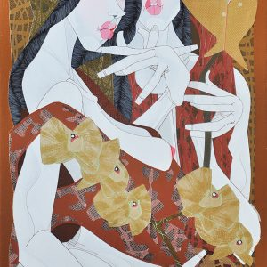 Code: 19677 Title: Two Women Size: 30x18in Medium: Acrylic on Canvas