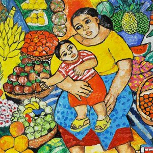 Code: 19846 Title: Mother and Child Size: 18x24in Medium: Oil on Canvas
