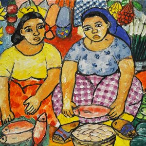 Code: 19847 Title: Vendors Size: 12x16in Medium: Oil on Canvas