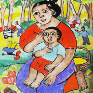 Code: 19898 Title: Mother and Child Size: 16x12in Medium: OC