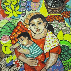 Code: 20076 Title: Mother and Child Size: 16x12in Medium: Oil on Canvas