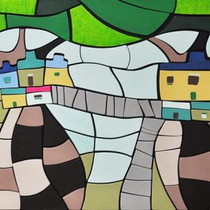 Code: 20296 Title:  Size: 24x48in Medium: Acrylic on Wood Puzzle Relief