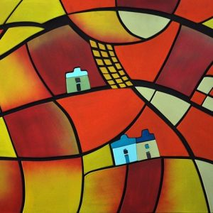Code: 20483 Title: Heat Wave Size: 24x36 Medium: Acrylic on Wood Puzzle Relief
