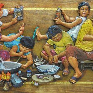 "BNZ 008 ""Ginataang Tandang I"" 18 in x 36 in Painture"