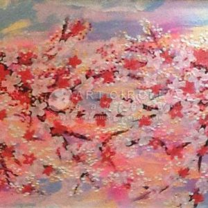 Code: 15694 Title: Cherry Blossoms Size: 24 inches x 36 inches Medium: Mixed Media