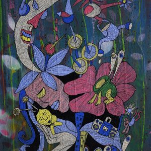 Code: CSR 053 Title:  Size: 24 in x 18 in Medium: Acrylic & Ink on Canvas