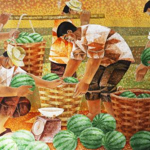 Code: 14751 Title: Watermelon Harvest Medium: Acrylic on Paper Dimension: 30x48