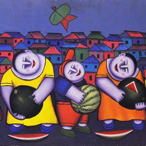 Code: 15667 Title: Watermelon Harvest Size: 20x48in Medium: Oil on Canvas