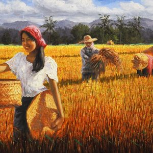 Code: 16078 Title: Levitico 25:12 Size: 17x48in Medium: Oil on Canvas