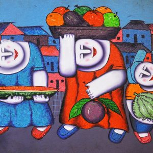 Code: 16271 Title: Fruit Vendors Size: 18.5x26in Medium: Oil on Canvas