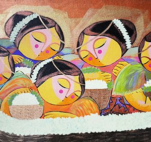 Code: 16284 Title: Flores de Mayo Size: 24x39in Medium: Oil on Canvas
