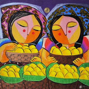 Code: 16668 Title: Mango Harvest Size: 24x24in Medium: Oil on Canvas